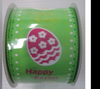 "2.5"" W X 10YD happy easter ribbon"