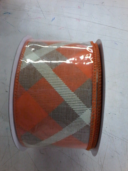 "2.5""X 10yd Printed Plaid On Royal"