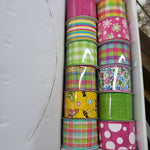 "2.5"" x 10 yds springtime ribbon box"