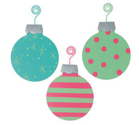 3 pc BRIGHT COLOR TIN ORNAMENT ASSORTMENT