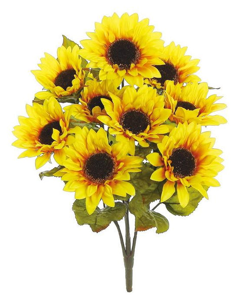 "22"" sunflower bush  x9 5"" blooms yellow"