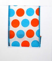 BI-COLOR LARGE DOT LINEN WIRED EDGE