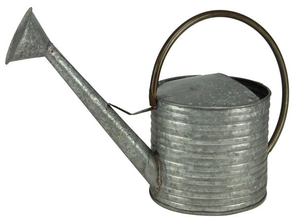 "19.5""Lx13""H Galvanized/Iron Watering Can"