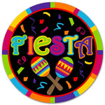 "12""DIA Metal Fiesta Sign   Multi"