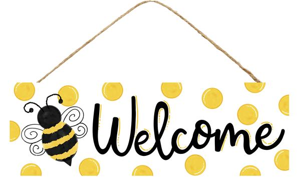 "15""L X 5""H Welcome/Bumblebee Sign"