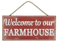 "12.5""Lx6""W Mdf Welcome/Farmhouse Sign"