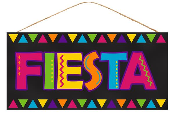 "12.5""L X 6""H Fiesta   Black/Multi"