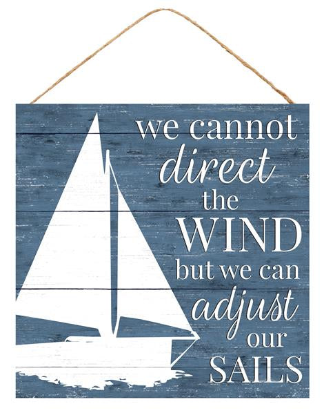 "10""Sq Adjust Our Sails   Blue/White"