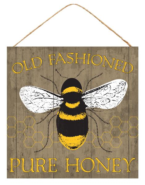 "10""Sq Old Fashioned Pure Honey   Brown/Yellow/Black/White"