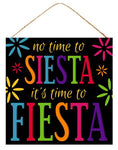 "10""Sq Siesta/Fiesta Sign   Black/Multi"