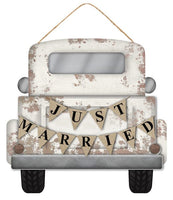 "12""L X 11.5""H Mdf Just Married Truck"