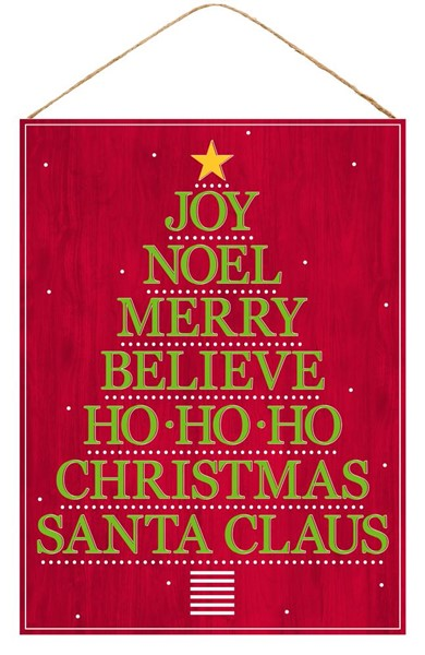 "15.75""H X 11.75""L Christmas Words Tree"