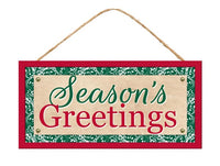 "12.5""L X 6""H Season's Greetings Sign"