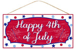 "12.5""Lx6""H Mdf ""Happy 4Th Of July"" Sign"