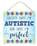 "10""Sq Puzzle Piece/Autistic Sign"