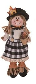 Plush Buffalo Check Scarecrow Shelf Sitter