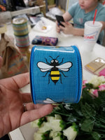 Colorful bumble bee ribbon