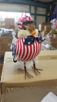 8in patriotic bird standing