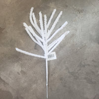 "18"" flocked  snow twig"