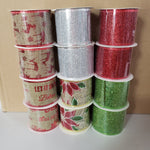 "2"" ribbon assortment 12 rolls 10 yards wired"