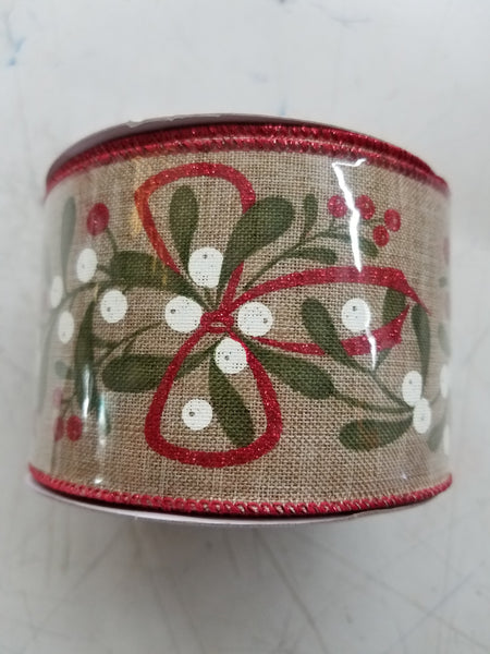 "2.5"" x 10 yds Christmas ribbon"