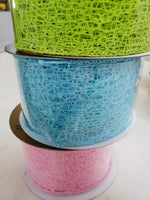 "2.5"" x 10 yds mesh ribbon"