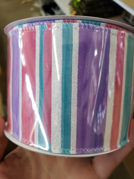 "2.5"" Watercolor Ribbon 10 yds."