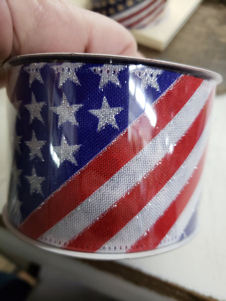"2.5"" x 10 yds flag stripe"