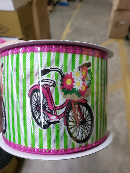 "2.5"" x 10 yds bicycle ribbon"