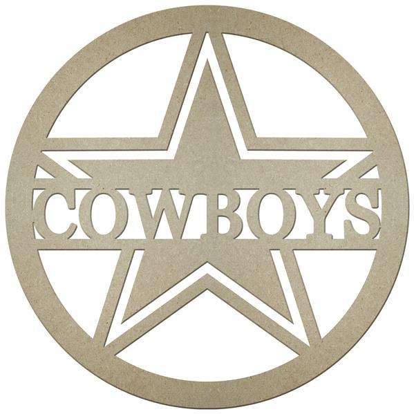 "23""Dia Mdf Cowboys W/A Star In A Circle"