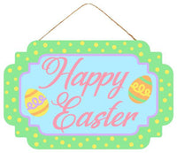 "12.5""L X 8""H Mdf Happy Easter W/Eggs"