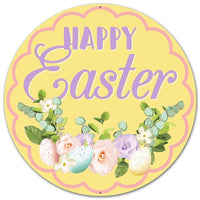 "12""Dia Metal ""Happy Easter"" Sign"