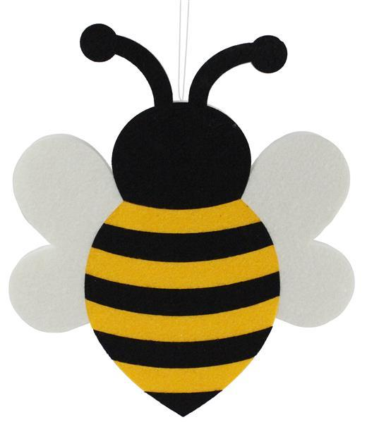 "8""Hx6.75""L Foam/Felt Bumble Bee Decor"