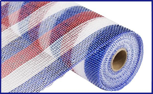 "10""X10yd Red White Blue Mesh"