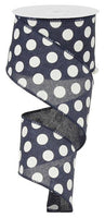 "2.5""X10yd Large Polka Dot"