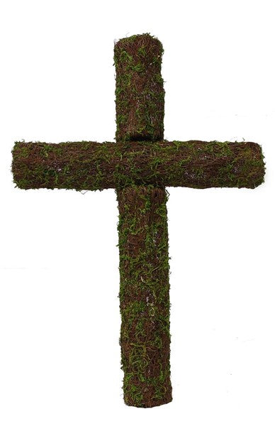 "24""H Angelvine/Moss Kd Cross"