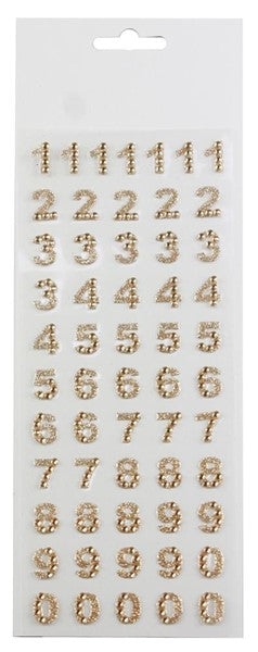 "1/2""Rhinestone Number Sticker Page"