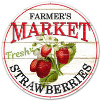 "12""DIA Farmer's Market Strawberries   Black/Red"