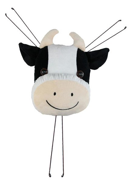 "12""L X 10""H Fabric Cow Head Decor"