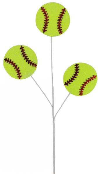 "24""L Glitter Softball Pick X3"