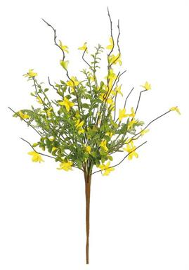 "FORSYTHIA & BUTTON LEAF BUNDLE, 24""; YELLOW"