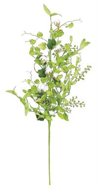 "MIXED FOLIAGE & COTTON POD SPRAY, 30"";"