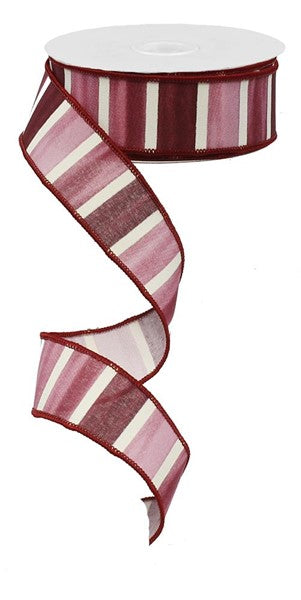 "1.5""X10yd Watercolor Wide Stripe"