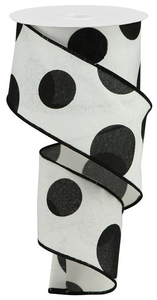 "2.5""X10yd Large Polka Dot/Cross Royal"