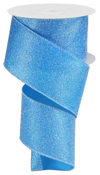 "2.5""X10yd Iridescent Glitter On Satin"