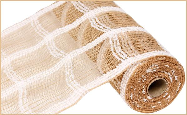 "10.5""X10yd Cotton Drift/Jute Check   Natural"