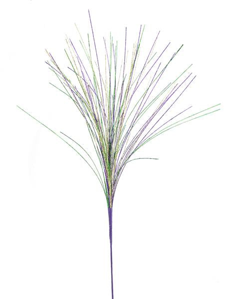 "35""Glitter Grass Spray   Mardi Gras"