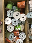 "Assorted box of 12 rolls of 4"" ribbons"