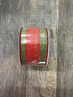 "2.5"" x 10 yd Christmas Song/Cross"