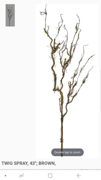 "43"" brown twig spray"